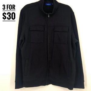 APT.9 zip-up sweater chest pockets menXL